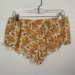 Victoria's Secret Floral Pajama Shorts Medium